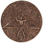 Elemental Pentacle Bronze Wall Plaque