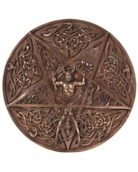 Elemental Pentacle Bronze Wall Plaque All Wicca Store Magickal Supplies Wiccan Supplies, Wicca Books, Pagan Jewelry, Altar Statues