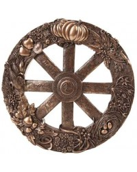 Pagan Wheel of the Year Bronze Finish Wall Plaque All Wicca Store Magickal Supplies Wiccan Supplies, Wicca Books, Pagan Jewelry, Altar Statues