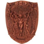 Triple Goddess Mother Maiden Crone Wall Plaque