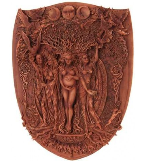 Triple Goddess Mother Maiden Crone Wall Plaque at All Wicca Store Magickal Supplies, Wiccan Supplies, Wicca Books, Pagan Jewelry, Altar Statues