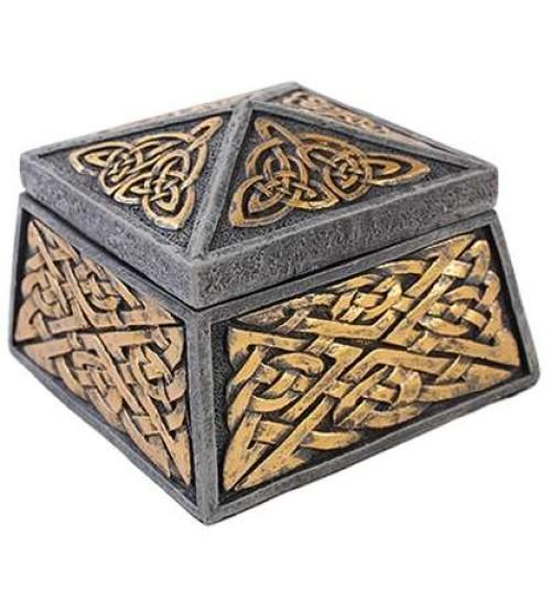 Celtic Knot Lidded Trinket Box