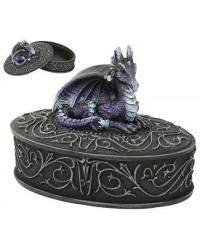 Purple Dragon Trinket Box All Wicca Store Magickal Supplies Wiccan Supplies, Wicca Books, Pagan Jewelry, Altar Statues