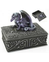 Purple Dragon Square Trinket Box All Wicca Store Magickal Supplies Wiccan Supplies, Wicca Books, Pagan Jewelry, Altar Statues