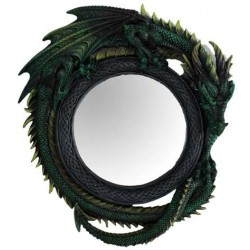 Green Dragon Wall Mirror All Wicca Wiccan Altar Supplies, All Wicca Books, Pagan Jewelry, Wiccan Statues
