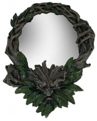 Greenman Wall Mirror All Wicca Store Magickal Supplies Wiccan Supplies, Wicca Books, Pagan Jewelry, Altar Statues