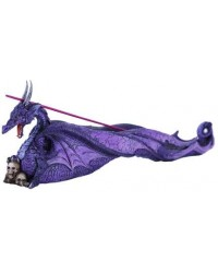 Purple Dragon Skull Incense Burner All Wicca Store Magickal Supplies Wiccan Supplies, Wicca Books, Pagan Jewelry, Altar Statues