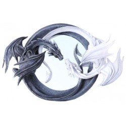 Ying Yang Dragon Wall Mirror All Wicca Wiccan Altar Supplies, All Wicca Books, Pagan Jewelry, Wiccan Statues