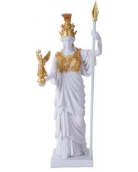 Athena, Greek Goddess of War White and Gold Statue All Wicca Store Magickal Supplies Wiccan Supplies, Wicca Books, Pagan Jewelry, Altar Statues