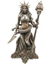 Hecate Greek Goddess of the Underworld Bronze Resin Statue All Wicca Store Magickal Supplies Wiccan Supplies, Wicca Books, Pagan Jewelry, Altar Statues