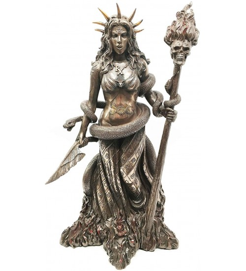 Hecate Greek Goddess of the Underworld Bronze Resin Statue at All Wicca Store Magickal Supplies, Wiccan Supplies, Wicca Books, Pagan Jewelry, Altar Statues