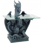 Dragon Glass Top Side Table