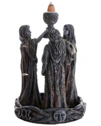 Mother, Maiden, Crone Triple Goddess Backflow Incense Burner All Wicca Store Magickal Supplies Wiccan Supplies, Wicca Books, Pagan Jewelry, Altar Statues