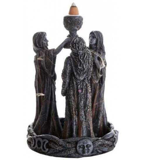 Mother, Maiden, Crone Triple Goddess Backflow Incense Burner at All Wicca Store Magickal Supplies, Wiccan Supplies, Wicca Books, Pagan Jewelry, Altar Statues