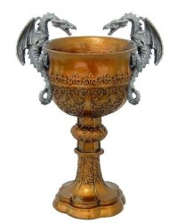 Double Dragon Golden Chalice All Wicca Magickal Supplies Wiccan Supplies, Wicca Books, Pagan Jewelry, Altar Statues