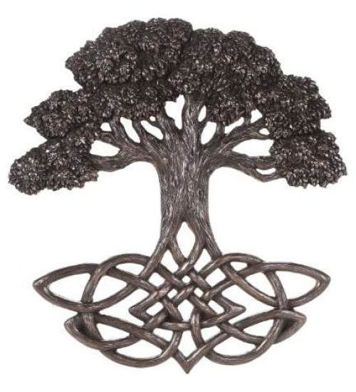 Tree of Life Celtic Knot Bronze Plaque at All Wicca Store Magickal Supplies, Wiccan Supplies, Wicca Books, Pagan Jewelry, Altar Statues