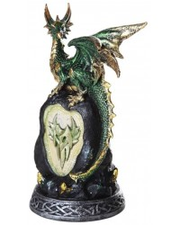 Green Dragon on Rock LED Night Light All Wicca Store Magickal Supplies Wiccan Supplies, Wicca Books, Pagan Jewelry, Altar Statues