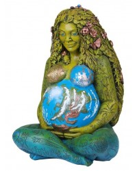 Millennial Gaia Mother Earth 14 Inch Statue All Wicca Store Magickal Supplies Wiccan Supplies, Wicca Books, Pagan Jewelry, Altar Statues
