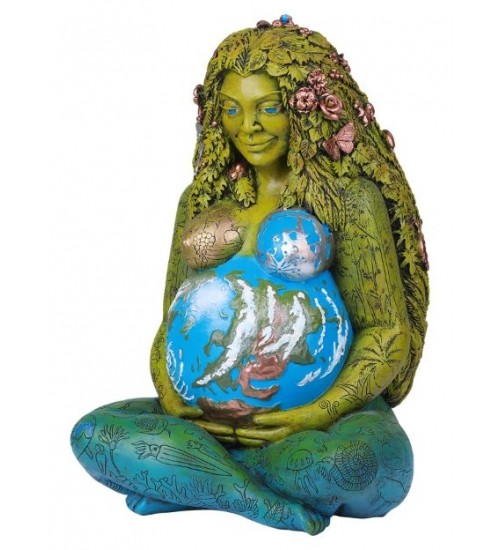 Millennial Gaia Mother Earth 14 Inch Statue at All Wicca Store Magickal Supplies, Wiccan Supplies, Wicca Books, Pagan Jewelry, Altar Statues