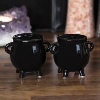Witches Cauldron Salt & Pepper Shaker Set