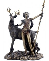 Diana Artemis Greek Goddess of the Hunt Statue with Deer All Wicca Store Magickal Supplies Wiccan Supplies, Wicca Books, Pagan Jewelry, Altar Statues