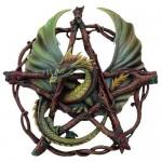 Forest Pentagram Dragon Plaque