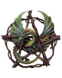 Forest Pentagram Dragon Plaque All Wicca Store Magickal Supplies Wiccan Supplies, Wicca Books, Pagan Jewelry, Altar Statues