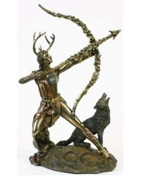 Diana Artemis Greek Goddess of the Hunt Statue with Wolf All Wicca Store Magickal Supplies Wiccan Supplies, Wicca Books, Pagan Jewelry, Altar Statues