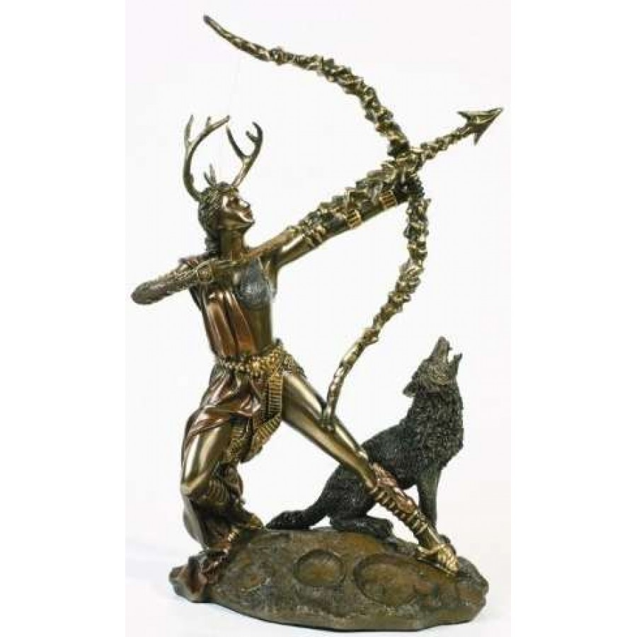 Diana artemis greek goddess of the hunt statue with wolf biocorpaavc Choice Image