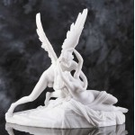 Eros and Psyche White Marble Greek Myth Statue