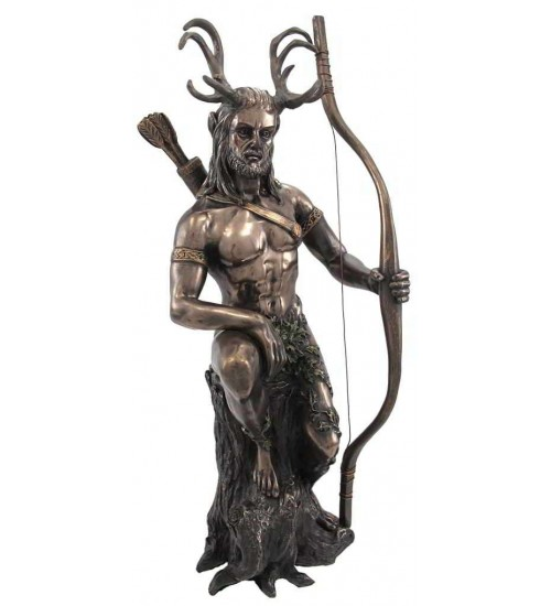 Herne the Hunter Horned Forest God Statue at All Wicca Store Magickal Supplies, Wiccan Supplies, Wicca Books, Pagan Jewelry, Altar Statues