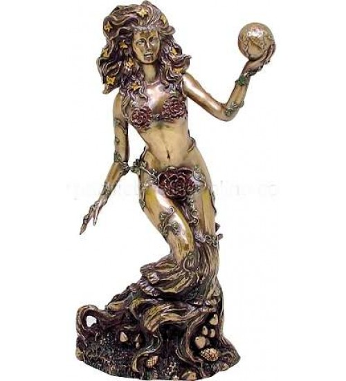 Gaia, Mother Earth Bronze Statue at All Wicca Store Magickal Supplies, Wiccan Supplies, Wicca Books, Pagan Jewelry, Altar Statues