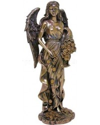 Lady Fortuna Greek Goddess Bronze Statue All Wicca Store Magickal Supplies Wiccan Supplies, Wicca Books, Pagan Jewelry, Altar Statues