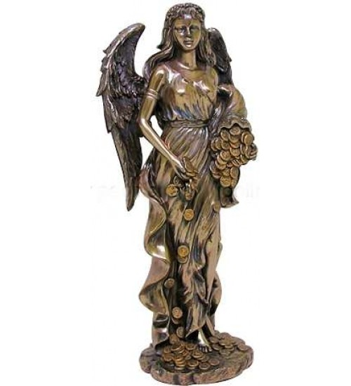 Lady Fortuna Greek Goddess Bronze Statue at All Wicca, Wiccan Altar Supplies, Books, Jewelry, Statues