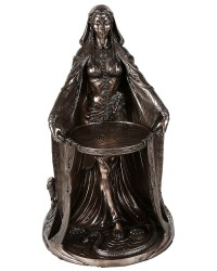 Danu Celtic Goddess Bronze Resin 16 Inch Statue