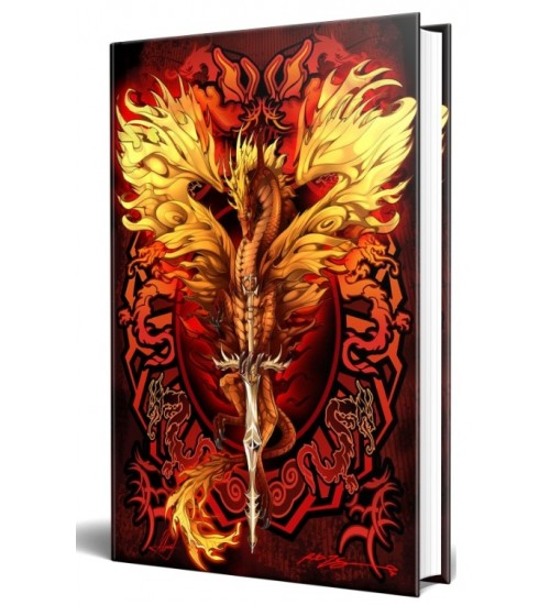 Dragon Flame Blade Embossed Journal at All Wicca Store Magickal Supplies, Wiccan Supplies, Wicca Books, Pagan Jewelry, Altar Statues