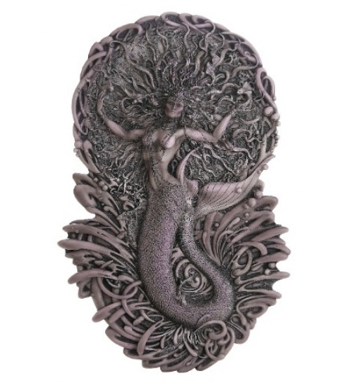 Mermaid Aine Plaque in Gray at All Wicca Store Magickal Supplies, Wiccan Supplies, Wicca Books, Pagan Jewelry, Altar Statues