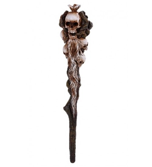 Skull Magic Wand at All Wicca Store Magickal Supplies, Wiccan Supplies, Wicca Books, Pagan Jewelry, Altar Statues