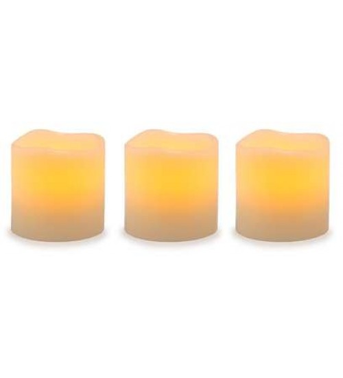 Unscented LED Pillar Candles with Timer - Set of 3 at All Wicca, Wiccan Altar Supplies, All Wicca Books, Pagan Jewelry, Wiccan Statues