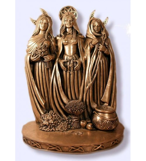 Triple Goddess Bronze Statue at All Wicca Magical Supplies, Wiccan Supplies, Wicca Books, Pagan Jewelry, Altar Statues