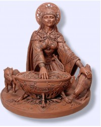 Cerridwen Cauldron 8.5 Inch Celtic Goddess Statue All Wicca Store Magickal Supplies Wiccan Supplies, Wicca Books, Pagan Jewelry, Altar Statues
