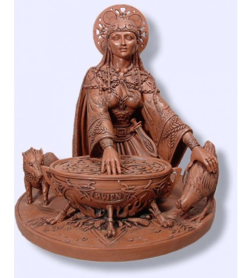 Cerridwen Cauldron 8.5 Inch Celtic Goddess Statue at All Wicca Store Magickal Supplies, Wiccan Supplies, Wicca Books, Pagan Jewelry, Altar Statues