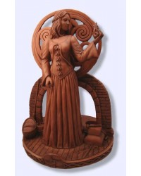 Brigit Goddess of the Hearth Candle Holder Statue All Wicca Store Magickal Supplies Wiccan Supplies, Wicca Books, Pagan Jewelry, Altar Statues