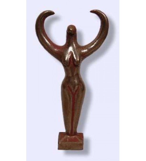Nile Goddess Small Bronze Statue at All Wicca Store Magickal Supplies, Wiccan Supplies, Wicca Books, Pagan Jewelry, Altar Statues