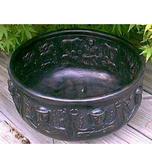 Gundustrup 12 Inch Resin Cauldron at All Wicca Magickal Supplies, Wiccan Supplies, Wicca Books, Pagan Jewelry, Altar Statues