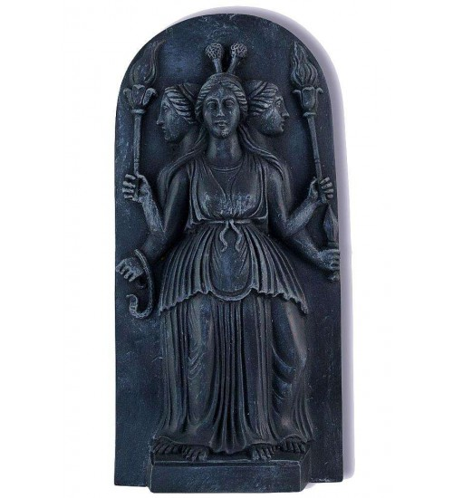 Hecate Goddess of the Night Plaque at All Wicca Store Magickal Supplies, Wiccan Supplies, Wicca Books, Pagan Jewelry, Altar Statues