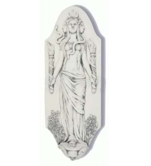 Hecate Goddess of the Crossroads Plaque by Jeff Cullen at All Wicca Store Magickal Supplies, Wiccan Supplies, Wicca Books, Pagan Jewelry, Altar Statues