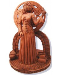 Brigit Goddess of the Hearth Small Candle Holder Statue
