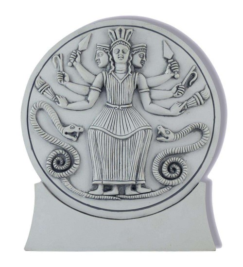 Roman Hecate Triple Goddess Statue or Plaque at All Wicca Store Magickal Supplies, Wiccan Supplies, Wicca Books, Pagan Jewelry, Altar Statues