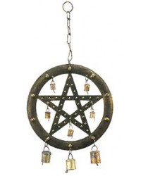 Pentacle Wind Chime with Bells All Wicca Store Magickal Supplies Wiccan Supplies, Wicca Books, Pagan Jewelry, Altar Statues
